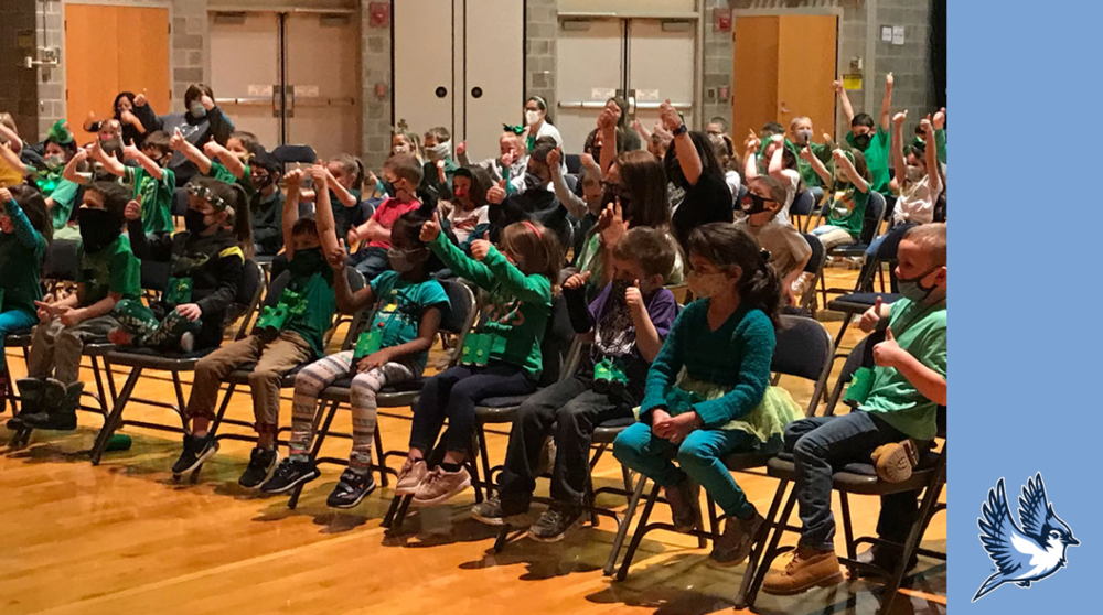 Elementary school assembly discusses respect, responsibility and kindness